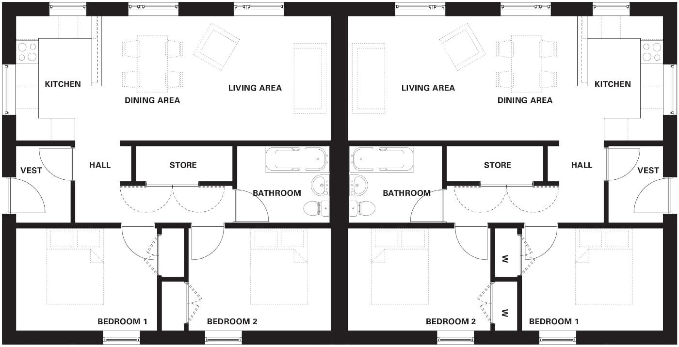 RS2 semi detached floor plans